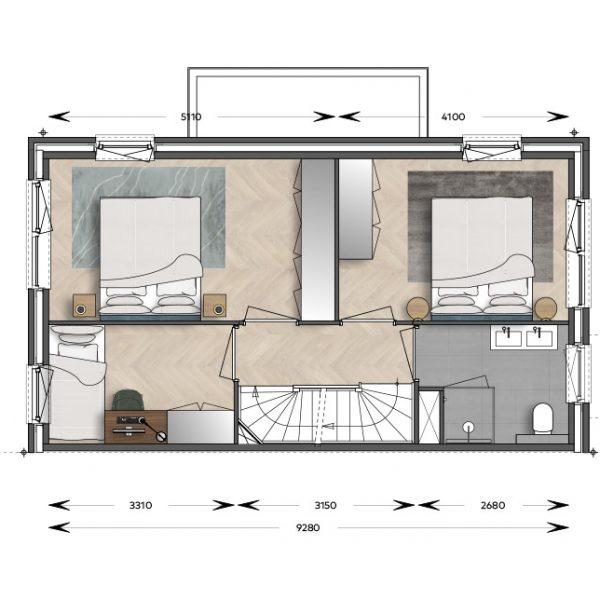 Verdieping Herenhuis 6 Herenweg Warmond H&B Bouw
